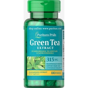 Puritan's Pride Green Tea Standardized Extract 315 mg-100 Capsules