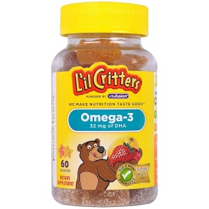 L'il Critters Omega-3 Vitamin Gummy Fish, 60 Count