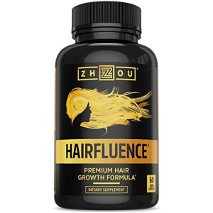 HAIRFLUENCE - Hair Growth Formula For Longer, Stronger, Healthier Hair - Scientifically Formulated with Biotin, Keratin, Bamboo & More! - For All Hair Types - 60 Veggie Capsules