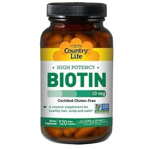 Country Life Biotin High Potency 10 mg 120 Veg Caps