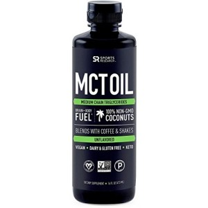 Premium MCT Oil derived only from Non-GMO Coconuts - 16oz BPA Free Bottle | Great in Keto Coffee,Tea, Smoothies & Salad Dressings | Non-GMO Project Veified & Vegan Certified (Unflavored)
