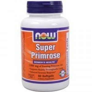 NOW Super Primrose 1300 mg,60 Softgels
