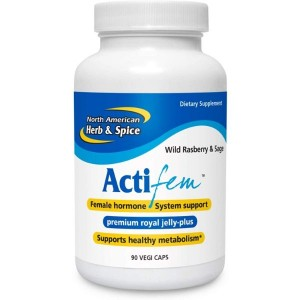 North American Herb & Spice ActiFEM - 90 Capsules - Supports Hormone Balance for Women, Metabolism & Mood - Royal Jelly, Wild Atlantic Kelp, Fennel - Non-GMO - 90 Total Servings