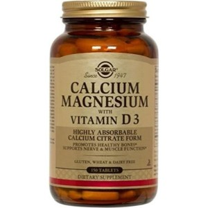 Solgar - Calcium Magnesium with Vitamin D3, 150 Tablets