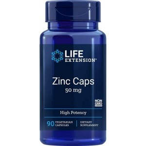 Life Extension Zinc Caps 50 Mg (High Potency) 90 Vegetarian Capsules