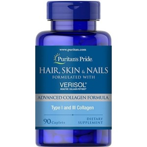 Puritan's Pride Hair, Skin and Nails formulated with VERISOL-90 Caplets