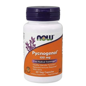NOW Pycnogenol 100mg, 60 Veg Capsules