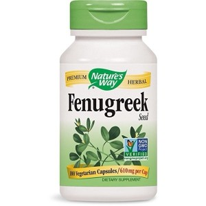 Nature's Way Fenugreek Seed Capsule, 610 Mg per Cap - 100 per pack