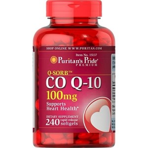 Puritan's Pride Q-SORB Co Q-10 100 mg-240 Rapid Release Softgels