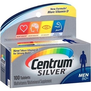 Centrum Silver Men (100 Count) Multivitamin / Multimineral Supplement Tablet, Vitamin D3, Age 50+