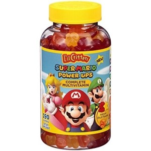 L'il Critters Super Mario Brothers Complete Multivitamin Gummies, 190 Count