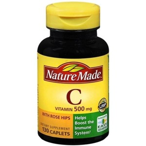 Nature Made Vitamin C 500mg with Rose Hips, 130 Tablets