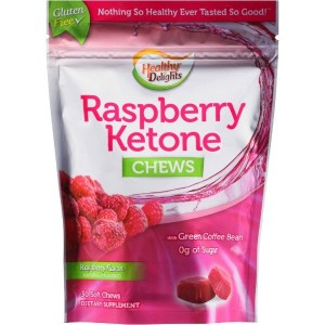 Healthy Delights Raspberry Ketone Chews Dietary Supplement, 30 count