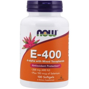 NOW Supplements, Vitamin E-400 IU, Mixed Tocopherols, Antioxidant Protection*, 100 Softgels