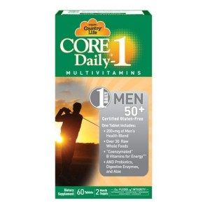 Country Life, Core Daily-1, Multivitamins, Men 50+, 60 Tablets