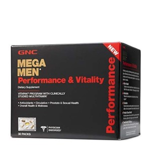 GNC Mega Men Performance and Vitality Daily Multivitamin Vitapak - 30 Count
