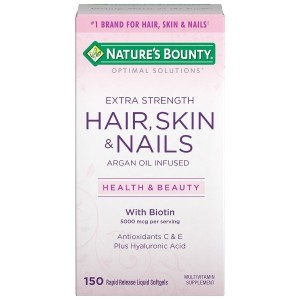Nature's Bounty Optimal Solutions Hair Skin & Nails Extra Strength-150 softgels