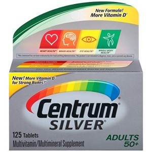 Centrum Silver Adult (125 Count) Multivitamin / Multimineral Supplement Tablet, Vitamin D3, Age 50+