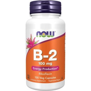 NOW Supplements, Vitamin B-2 (Riboflavin) 100 mg, Energy Production*, 100 Capsules