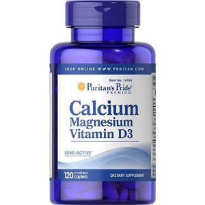 Puritan's Pride Calcium Magnesium with Vitamin D-120 Caplets