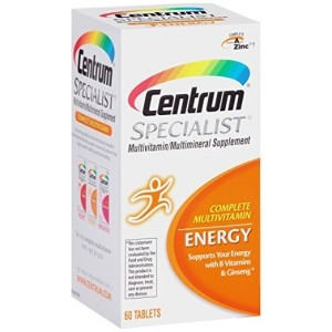 Centrum Specialist Energy (60 Count) Complete Multivitamin / Multimineral Supplement Tablet, Vitamin D3 and Vitamin C