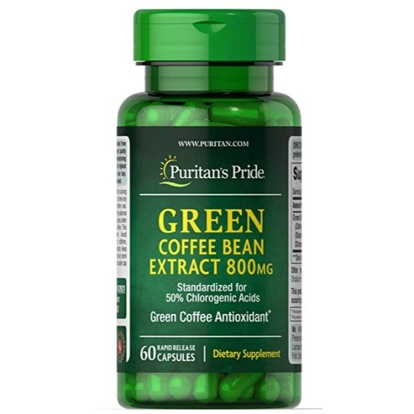 Puritan S Pride Green Coffee Bean Extract 800 Mg 60 Capsules Supplements